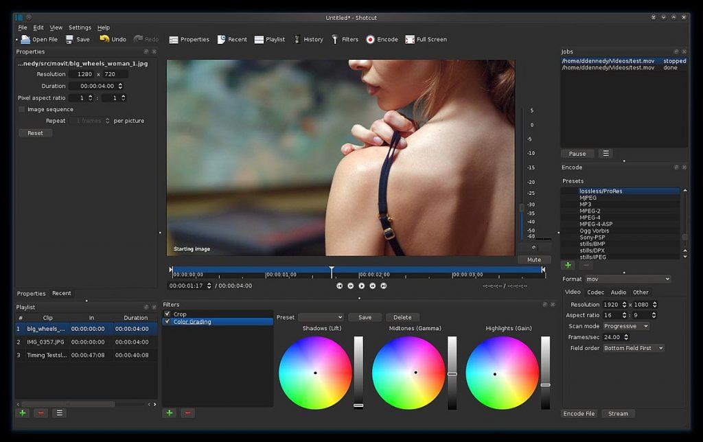 Shotcut logiciel de montage vidéo gratuit